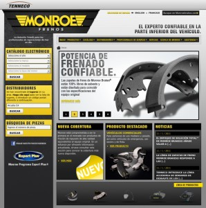 Monroe Brakes Home Page - Spanish Version