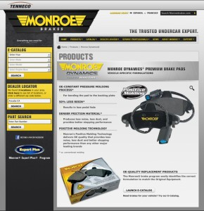 Monroe Brakes Product Page