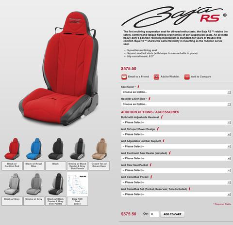 (MasterCraft Baja RS Landing Page)